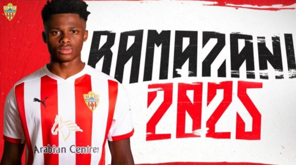 Ramzani decided to move away to UD Almeria this transfer window